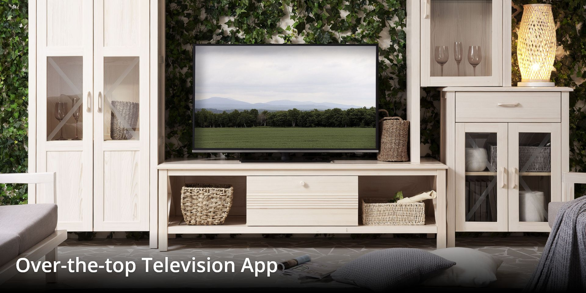 TV on table of home